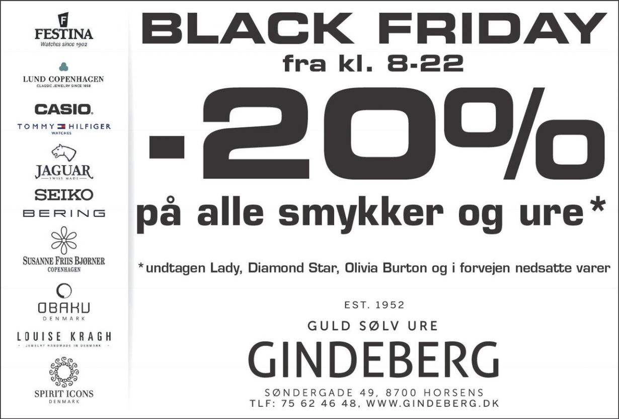 Black Friday hos Gindeberg BEST OF Horsens