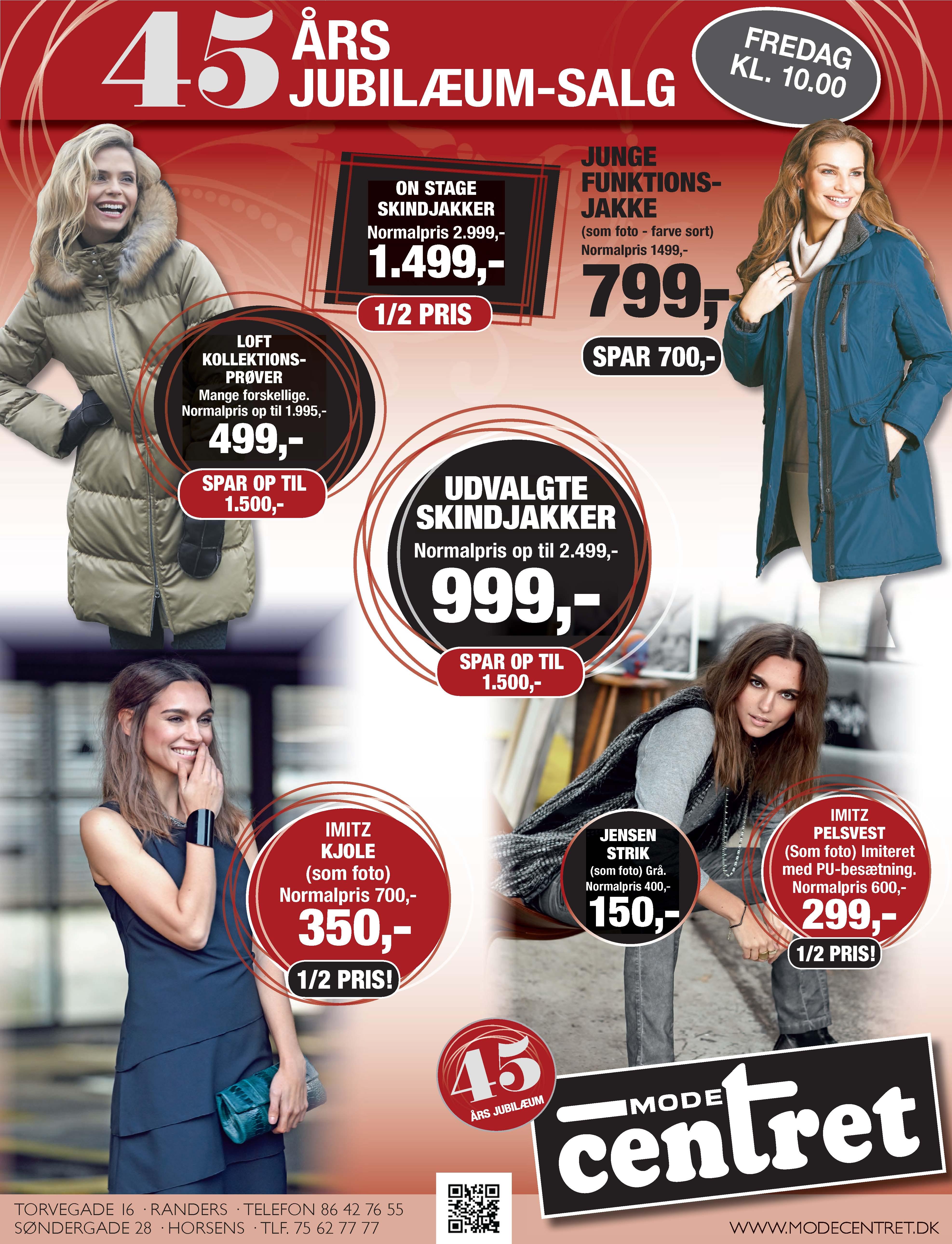0942fdd9d1b7 Modecentret Horsens fejrer 45 års jubilæum med stærke tilbud - BEST ...